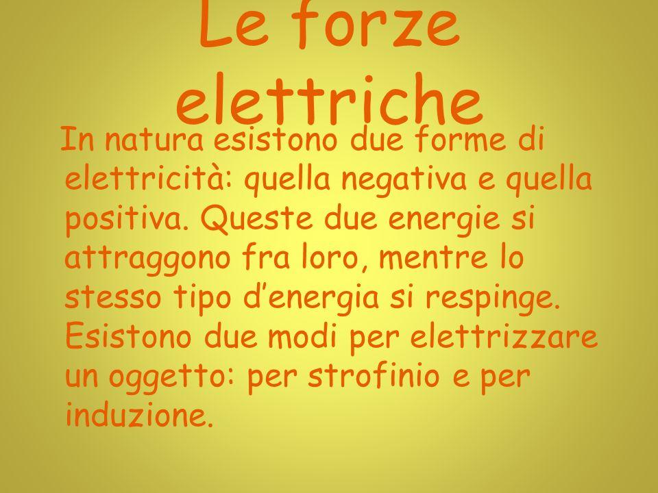 Le forze elettriche