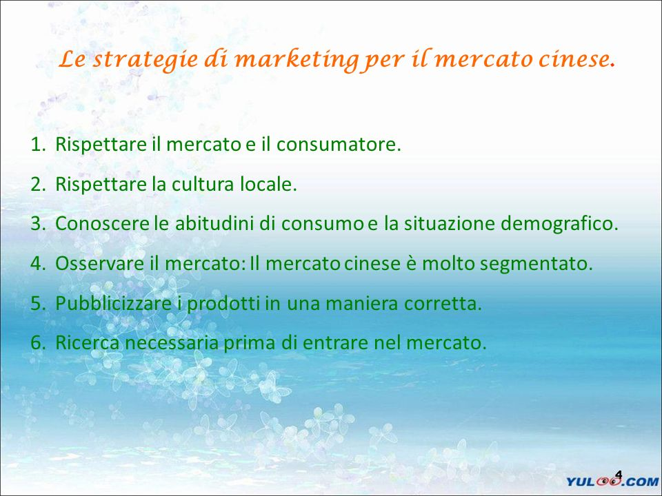 Le strategie di marketing per il mercato cinese.