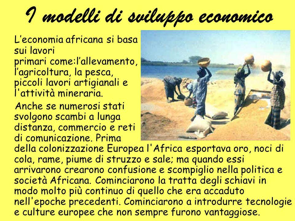 I modelli di sviluppo economico