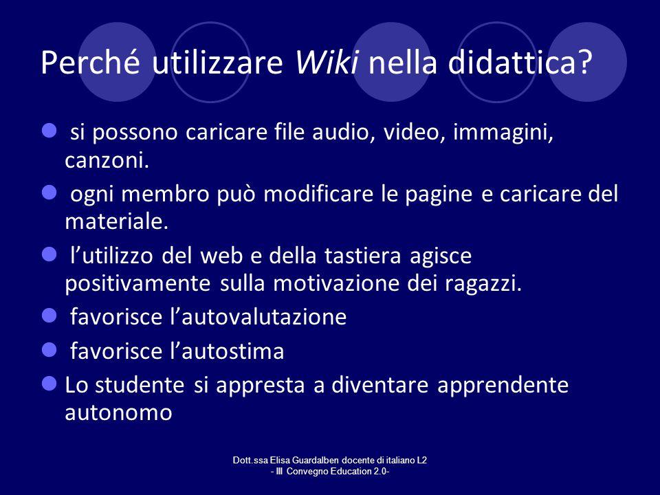 Perché utilizzare Wiki nella didattica