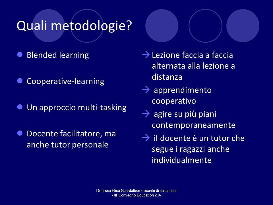 Quali metodologie Blended learning Cooperative-learning