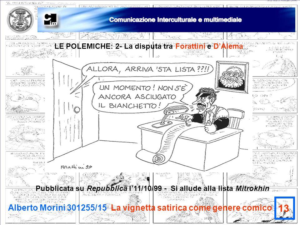13 Alberto Morini 301255/15 La vignetta satirica come genere comico