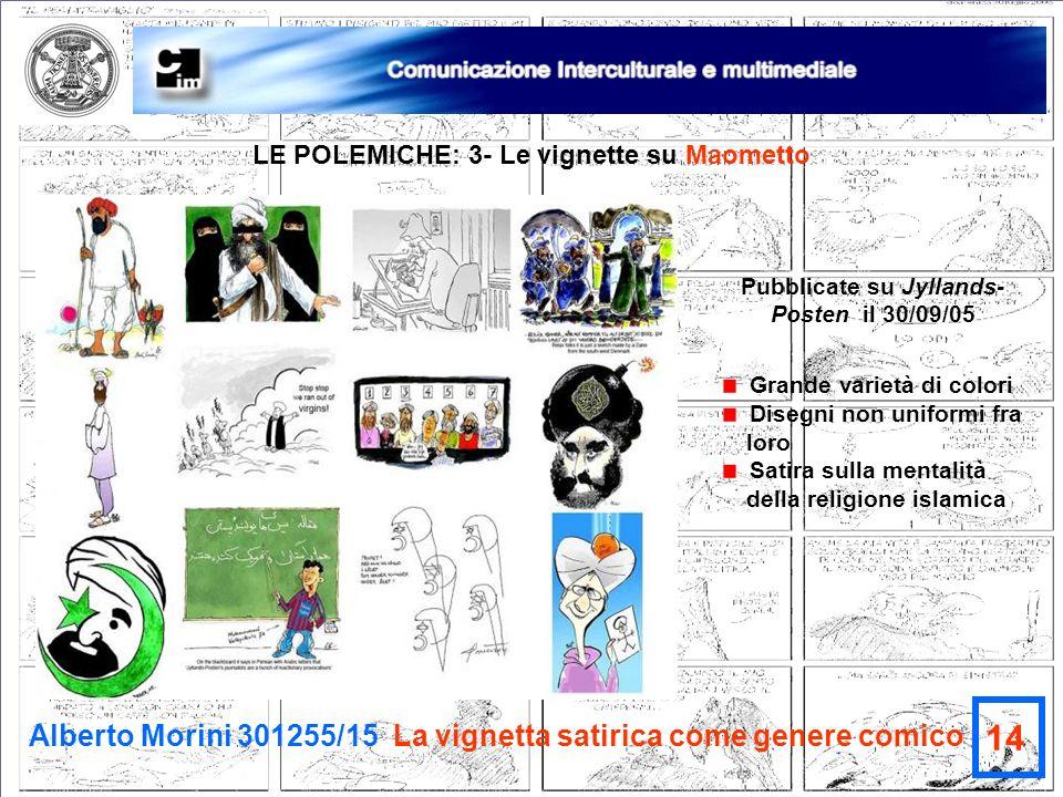 14 Alberto Morini 301255/15 La vignetta satirica come genere comico