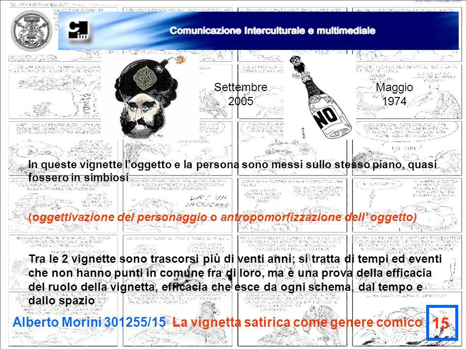 15 Alberto Morini 301255/15 La vignetta satirica come genere comico
