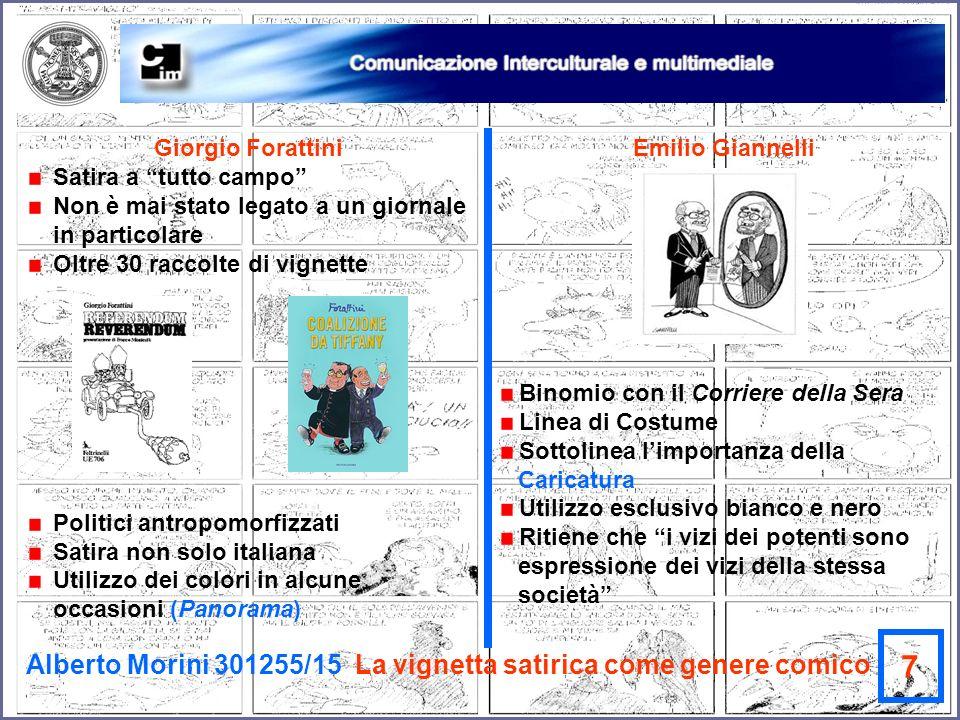 7 Alberto Morini 301255/15 La vignetta satirica come genere comico