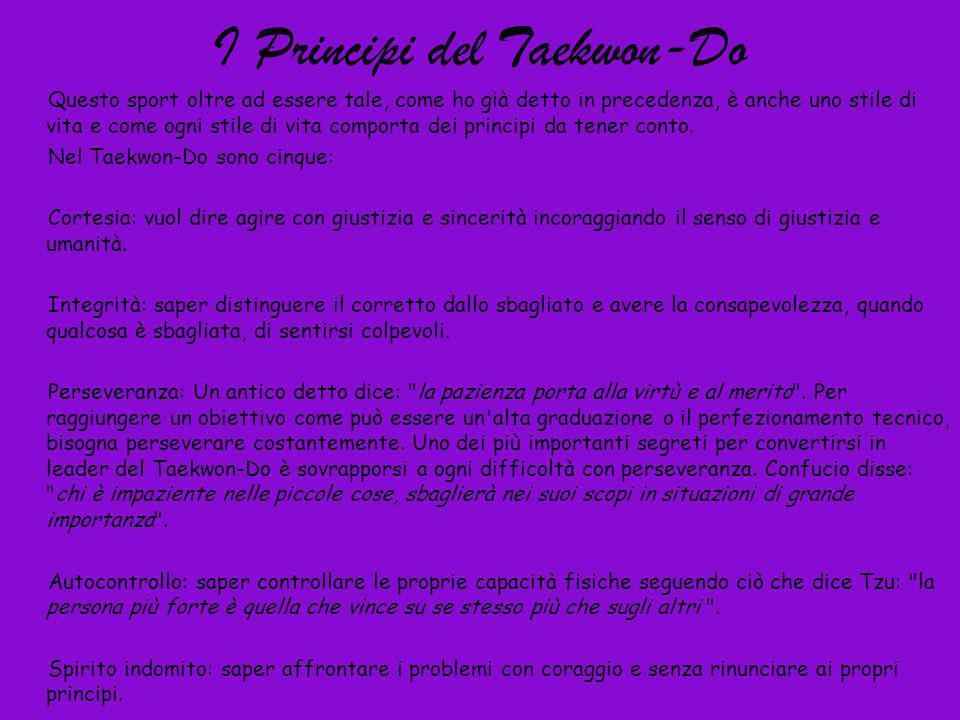 I Principi del Taekwon-Do