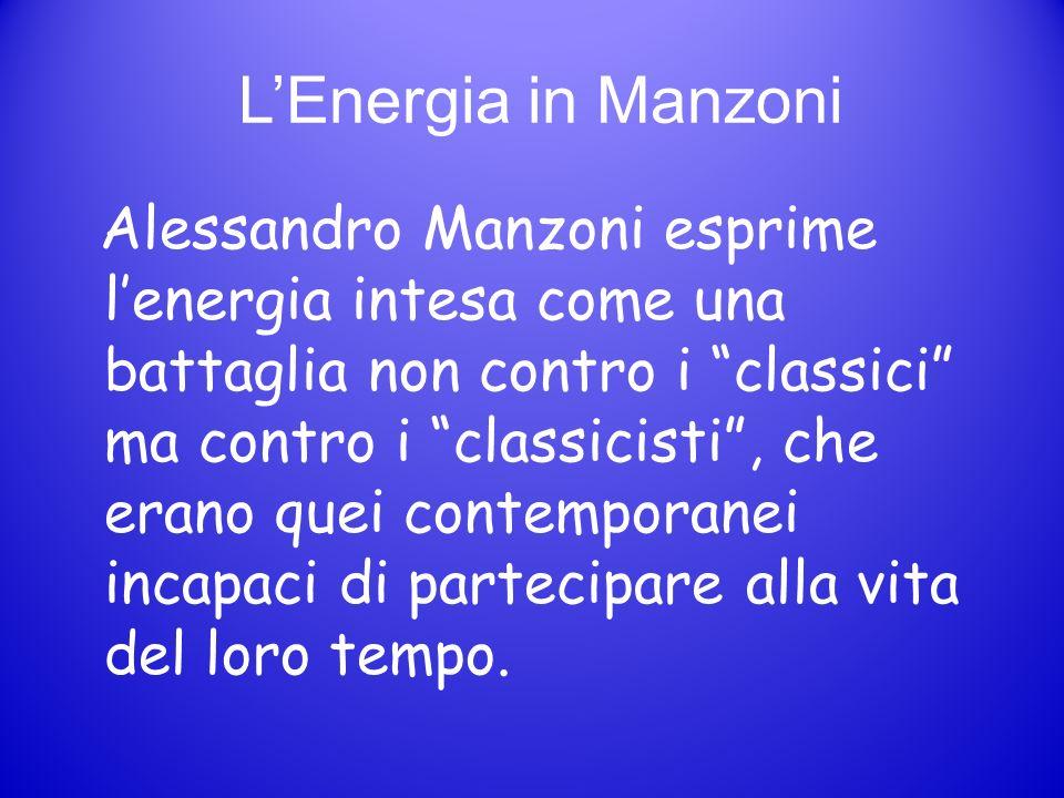 L'Energia in Manzoni