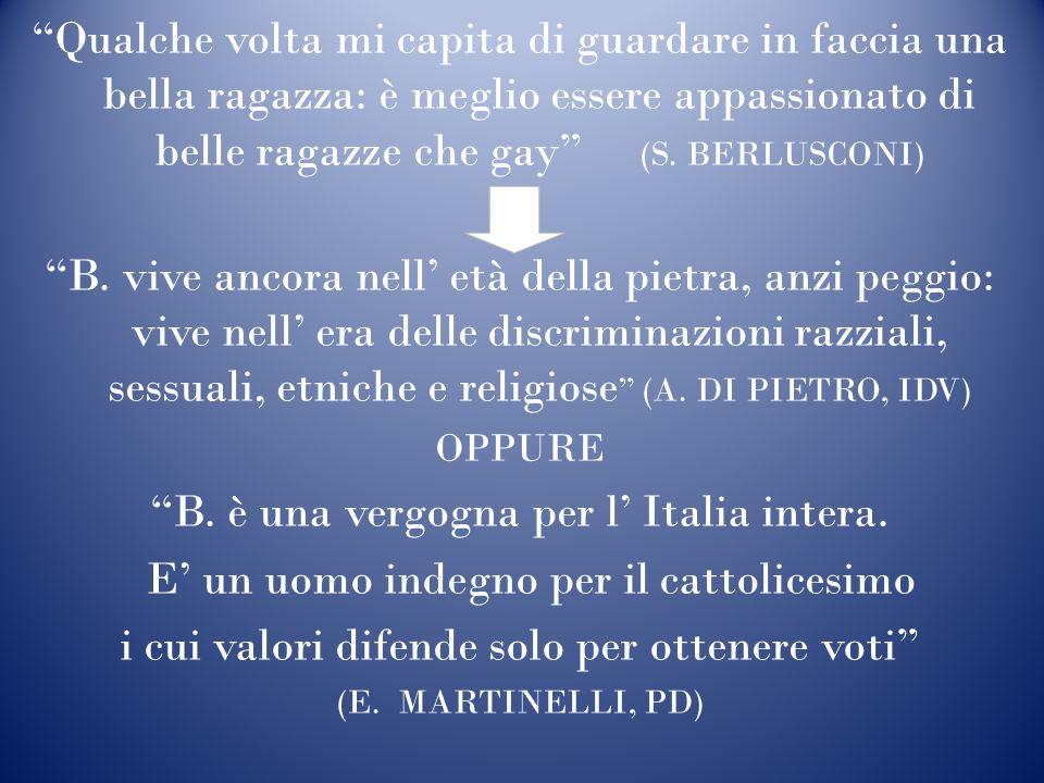 B. è una vergogna per l' Italia intera.