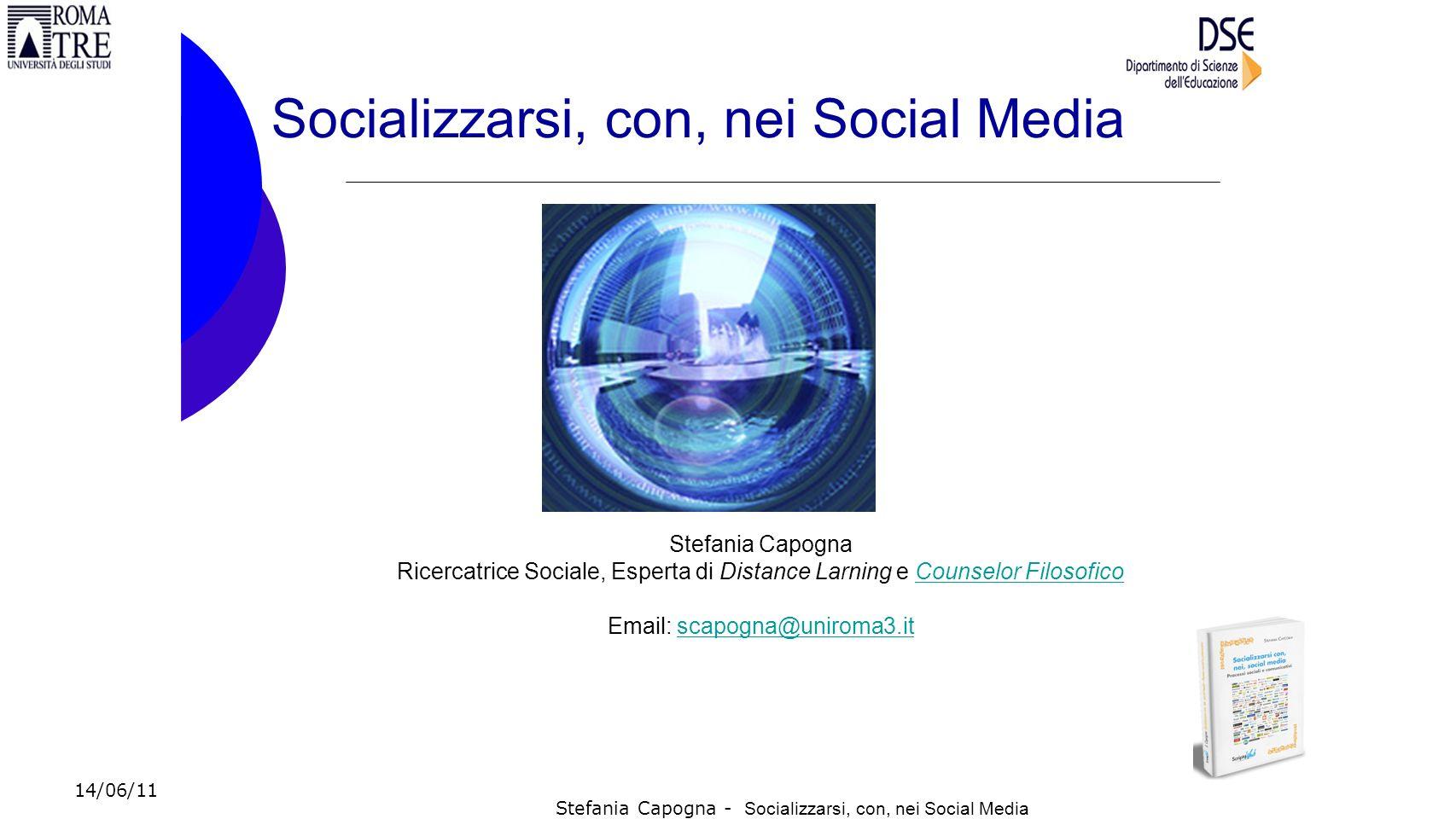 Socializzarsi, con, nei Social Media