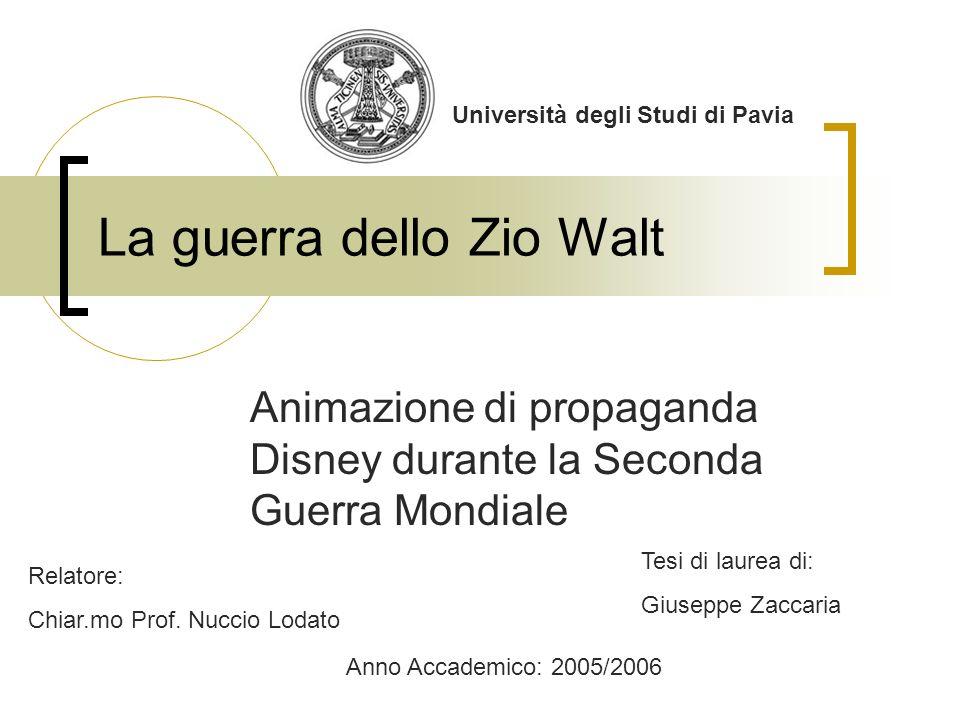 La guerra dello Zio Walt