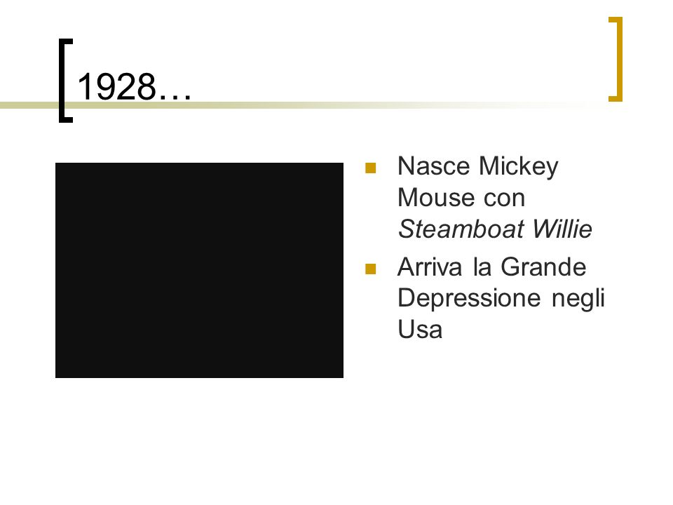 1928… Nasce Mickey Mouse con Steamboat Willie