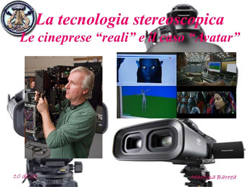 La tecnologia stereoscopica Le cineprese reali e il caso Avatar