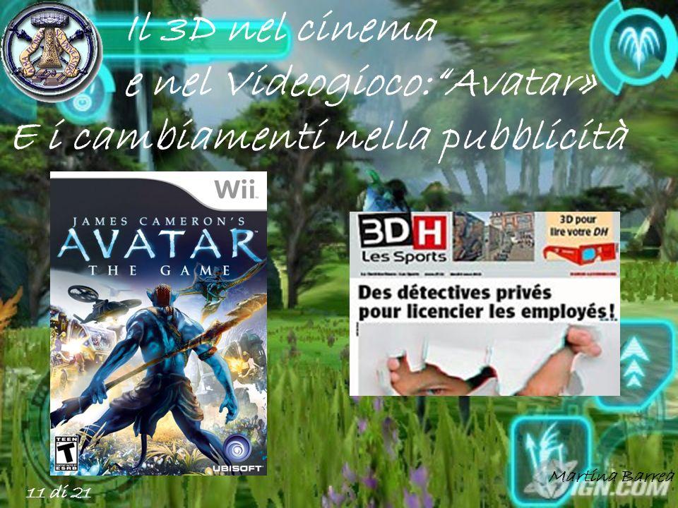 e nel Videogioco: Avatar» E i cambiamenti nella pubblicità