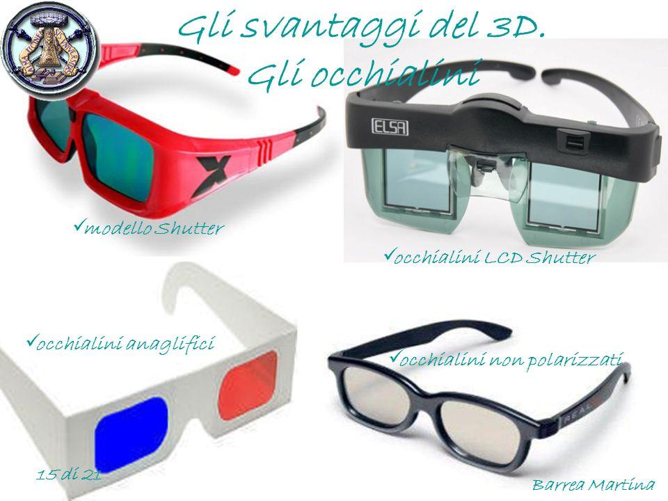 Gli svantaggi del 3D. Gli occhialini