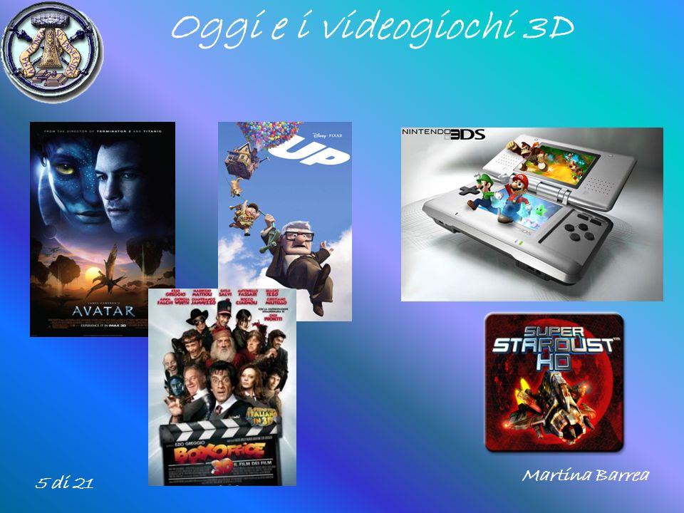Oggi e i videogiochi 3D Martina Barrea 5 di 21