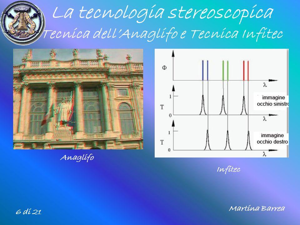 La tecnologia stereoscopica Tecnica dell'Anaglifo e Tecnica Infitec