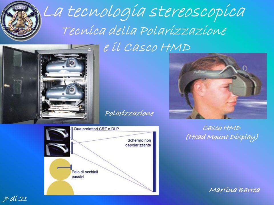 La tecnologia stereoscopica Tecnica della Polarizzazione