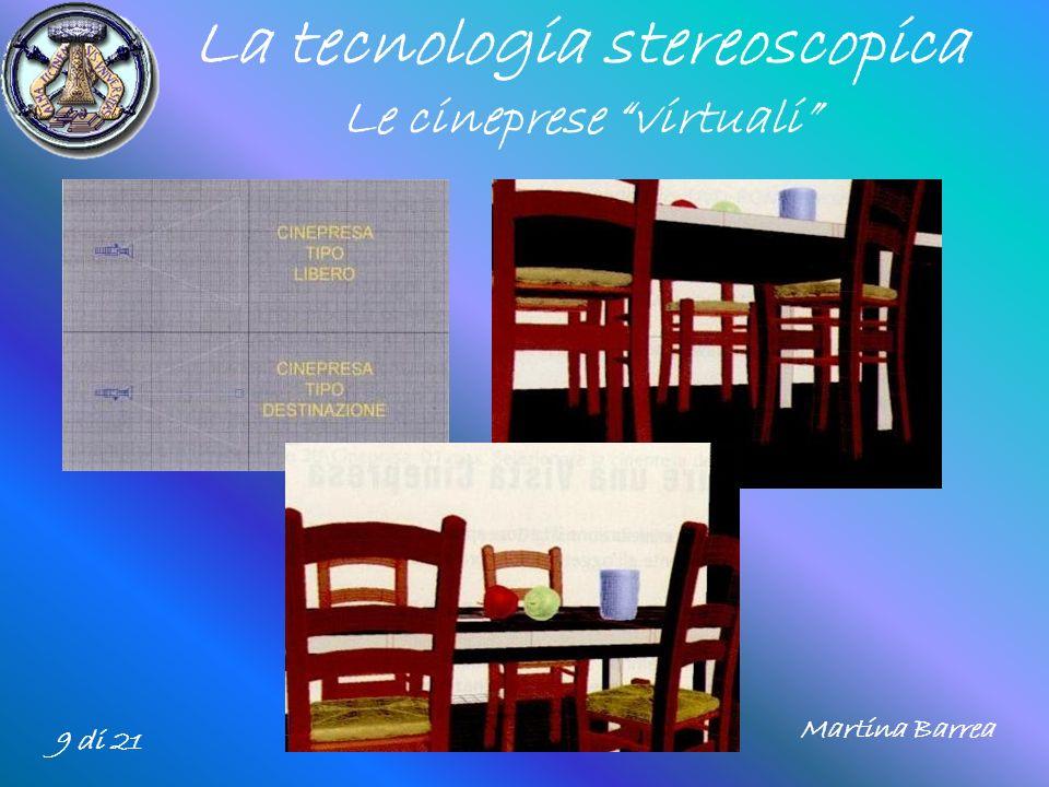 La tecnologia stereoscopica Le cineprese virtuali