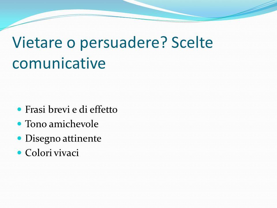 Vietare o persuadere Scelte comunicative