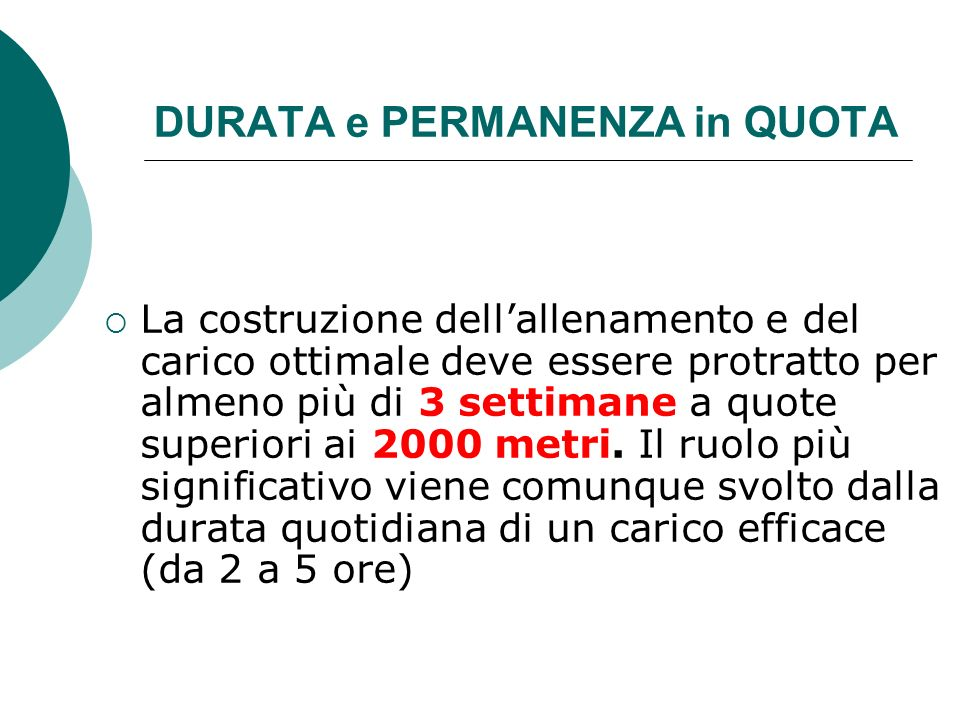 DURATA e PERMANENZA in QUOTA