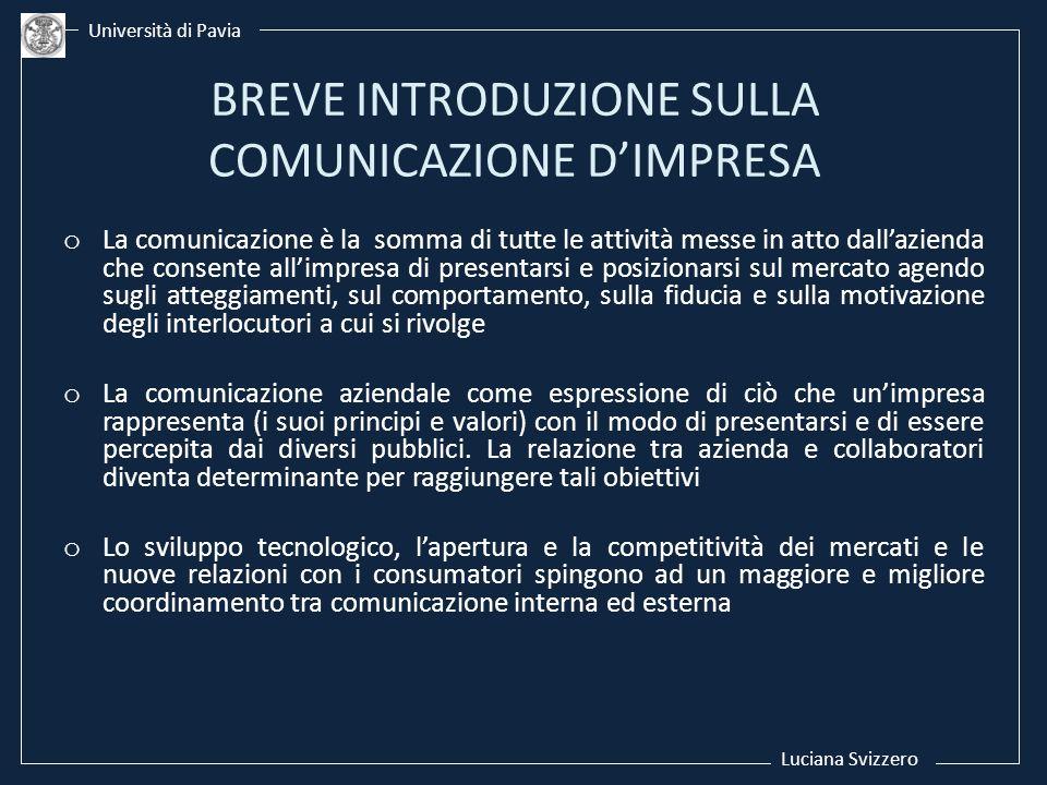 BREVE INTRODUZIONE SULLA COMUNICAZIONE D'IMPRESA