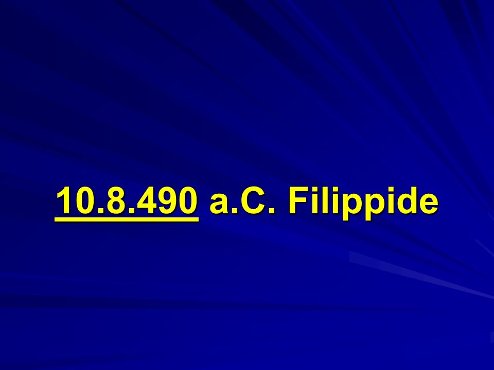 10.8.490 a.C. Filippide