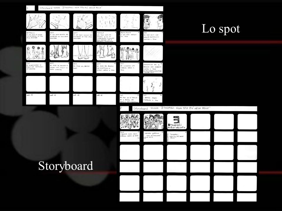 Lo spot Storyboard