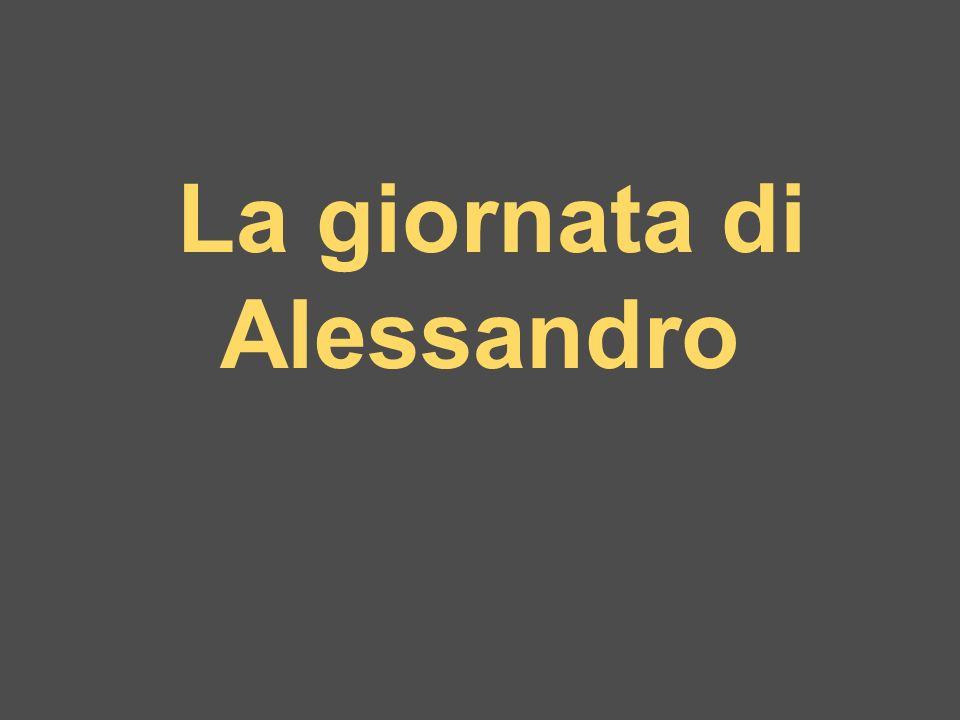 La giornata di Alessandro