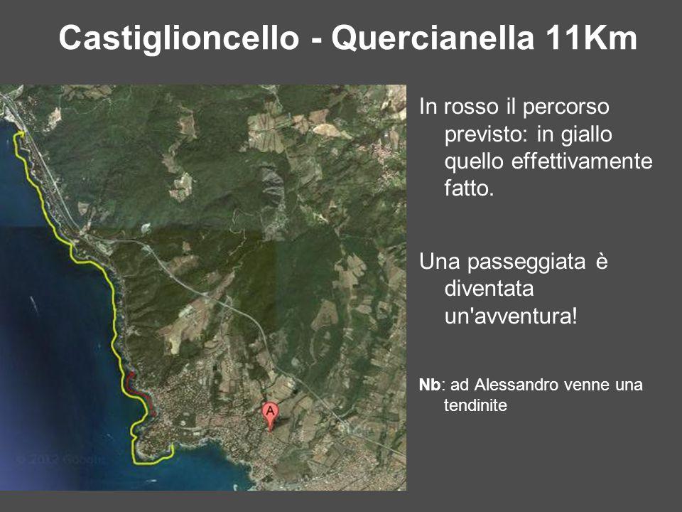 Castiglioncello - Quercianella 11Km