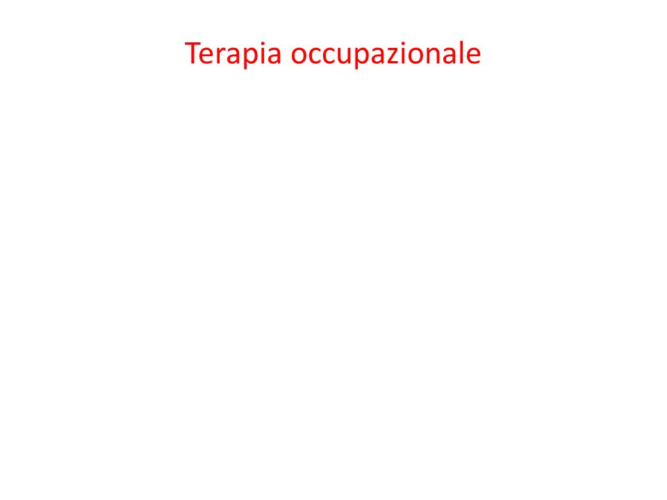 Terapia occupazionale