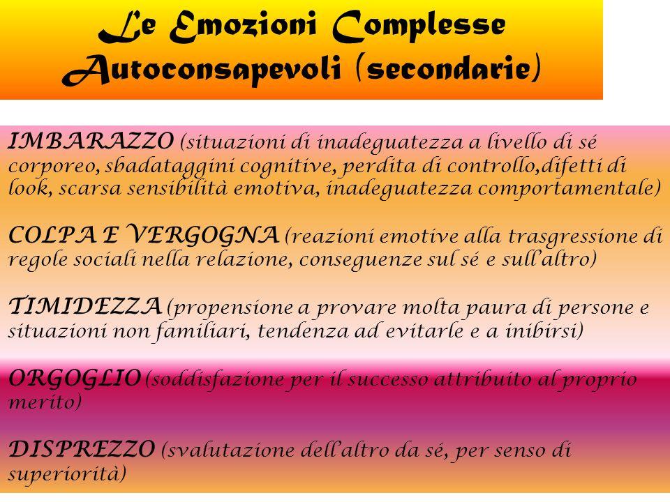 Le Emozioni Complesse Autoconsapevoli (secondarie)