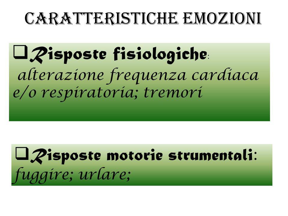 Caratteristiche emozioni