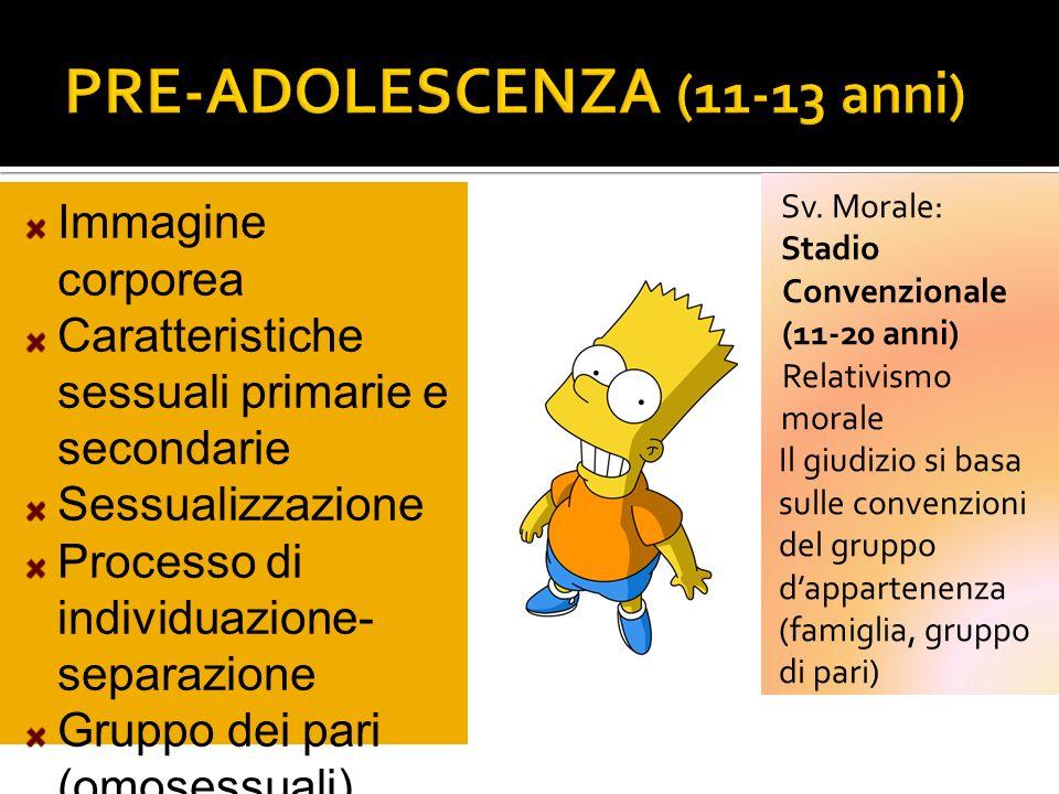 PRE-ADOLESCENZA (11-13 anni)