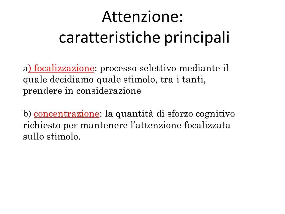 Attenzione: caratteristiche principali