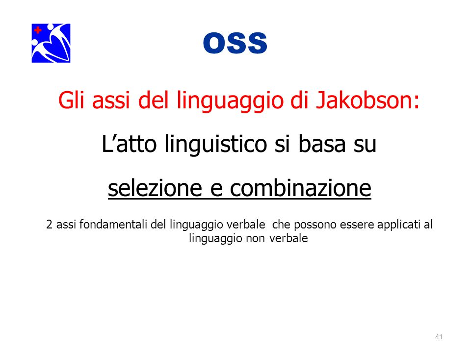 OSS. Gli assi del linguaggio di Jakobson: