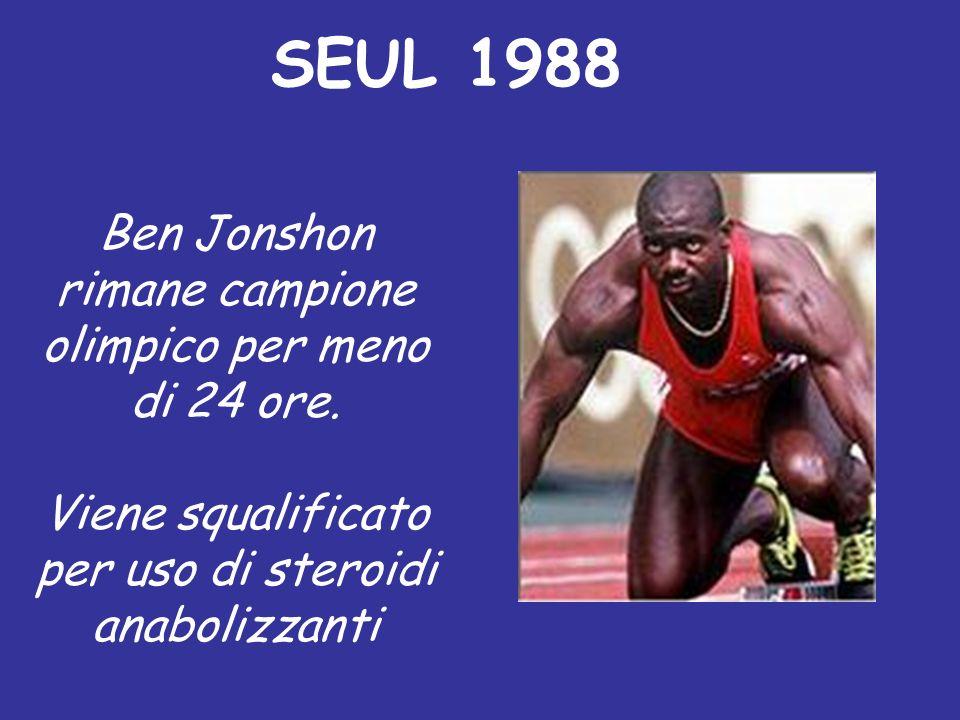 SEUL 1988 Ben Jonshon rimane campione olimpico per meno di 24 ore.