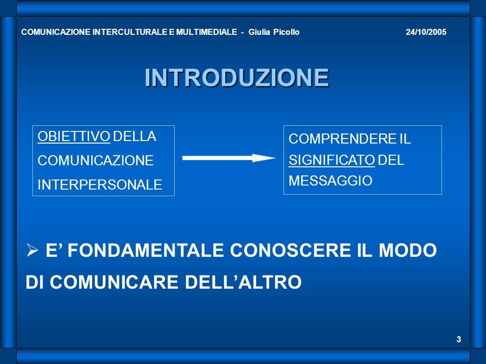 COMUNICAZIONE INTERCULTURALE E MULTIMEDIALE - Giulia Picollo