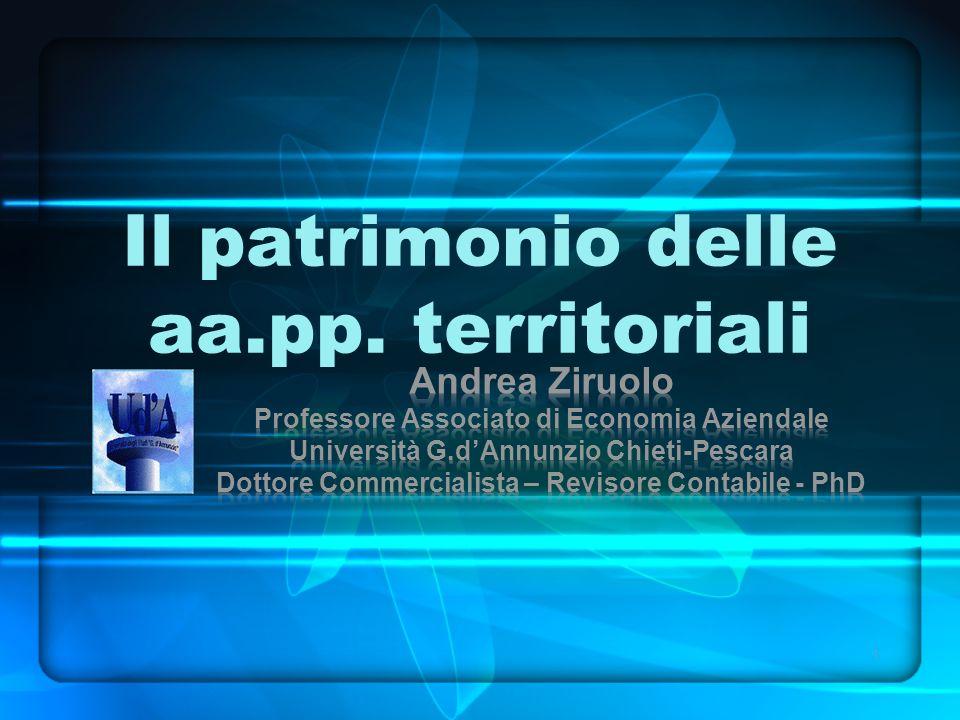 Il patrimonio delle aa.pp. territoriali