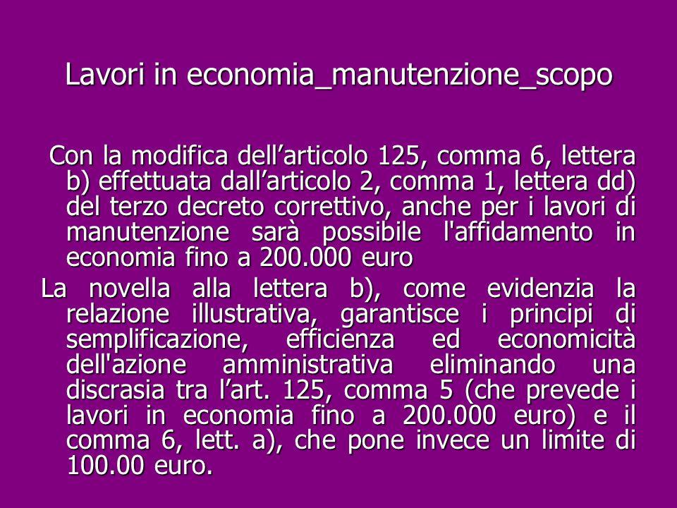 Lavori in economia_manutenzione_scopo
