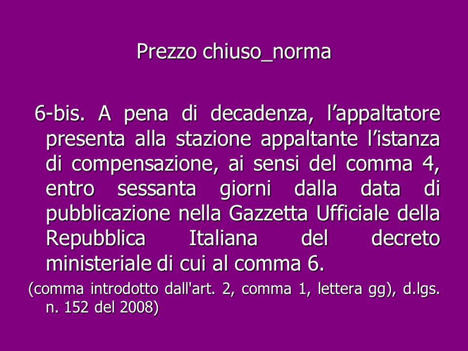 Prezzo chiuso_norma