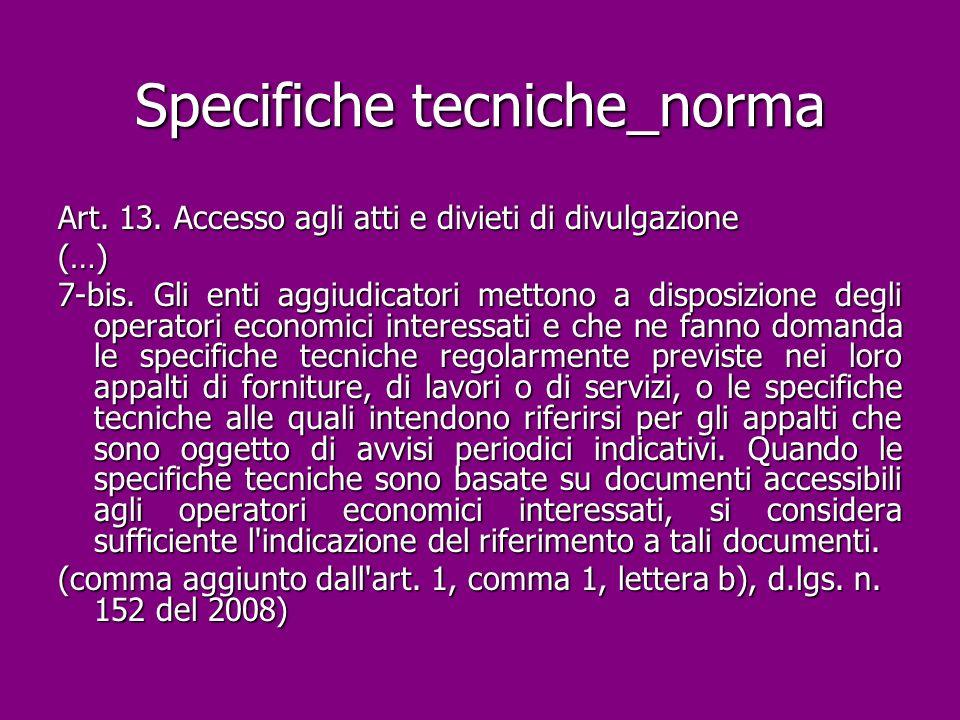 Specifiche tecniche_norma