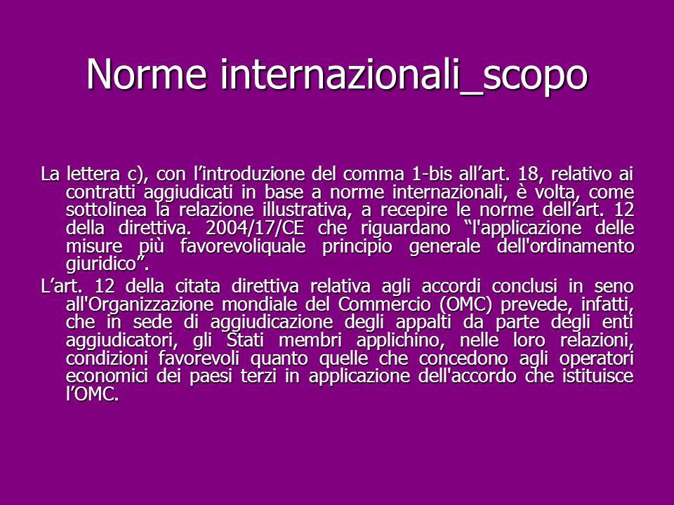 Norme internazionali_scopo