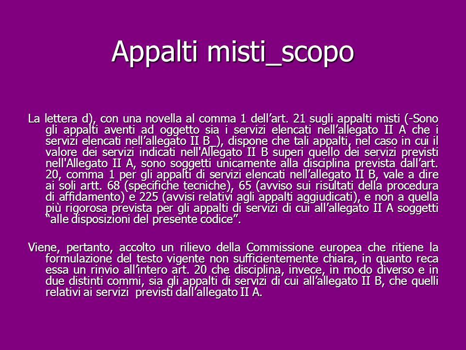 Appalti misti_scopo