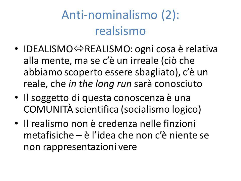 Anti-nominalismo (2): realsismo
