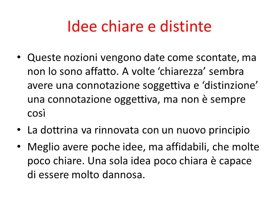 Idee chiare e distinte