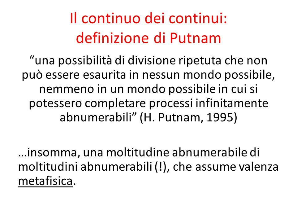 Il continuo dei continui: definizione di Putnam