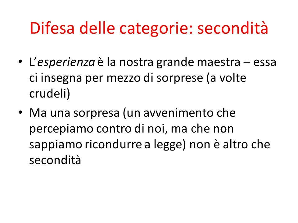 Difesa delle categorie: secondità