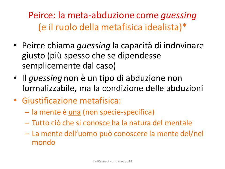 Peirce: la meta-abduzione come guessing (e il ruolo della metafisica idealista)*
