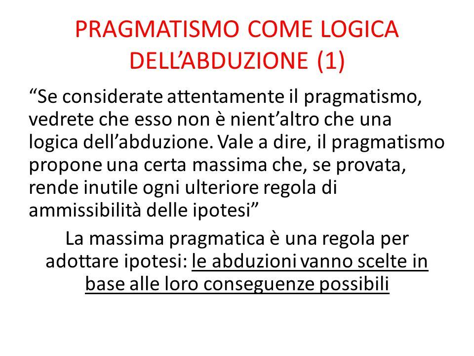 PRAGMATISMO COME LOGICA DELL'ABDUZIONE (1)