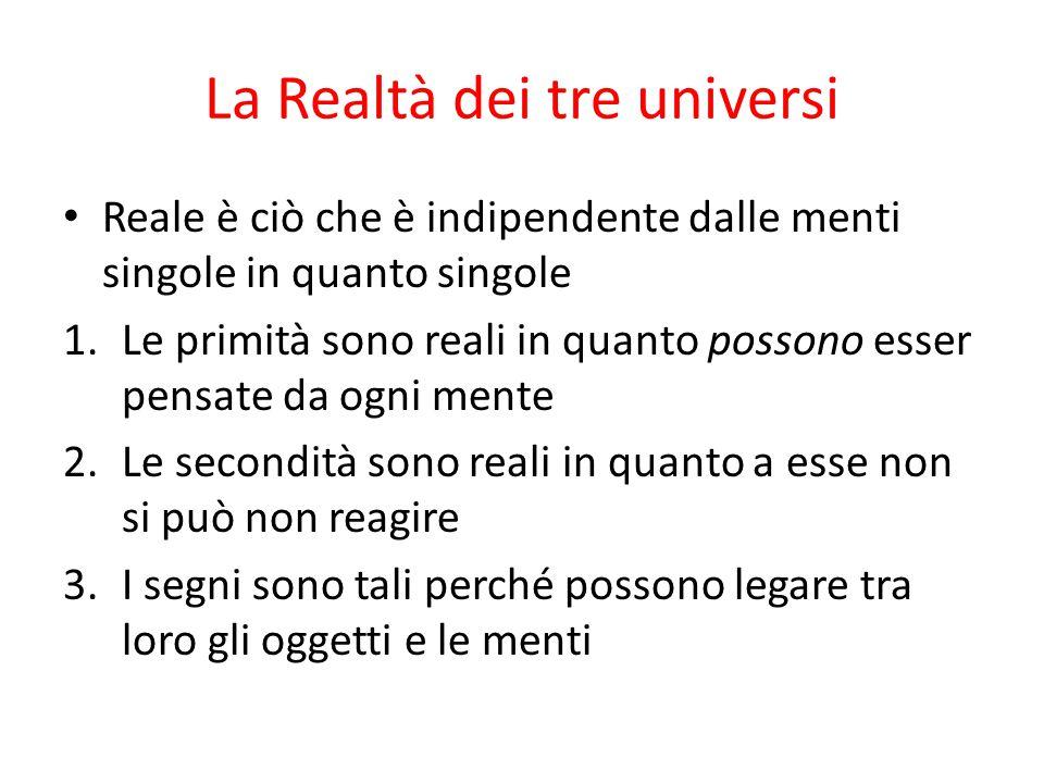 La Realtà dei tre universi